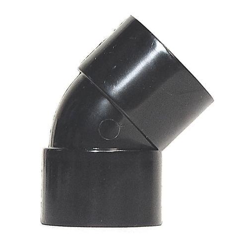 Black 32mm Solvent 135 Bend Black Waste