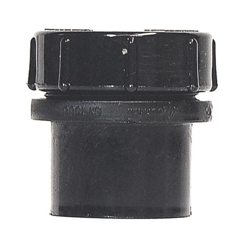 Black 40mm Solvent Access Plug with Screw Cap Waste