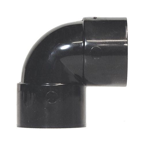 Black 50mm Solvent 90 Knuckle Bend Waste