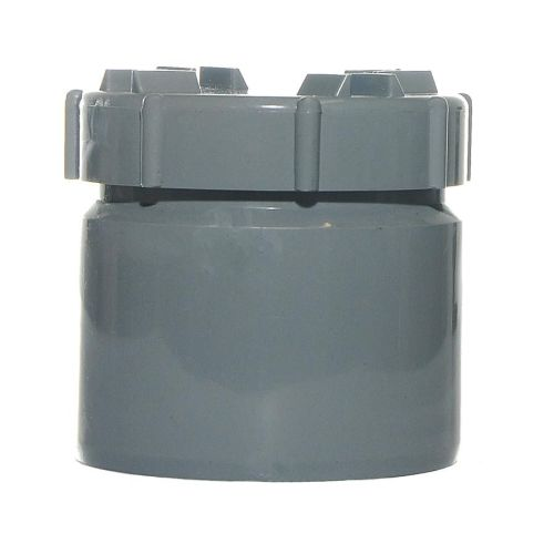 Grey 110mm Push Fit Access Plug With Screw Cap