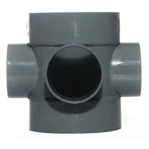 Grey 110mm Push Fit Short Boss Pipe Connector