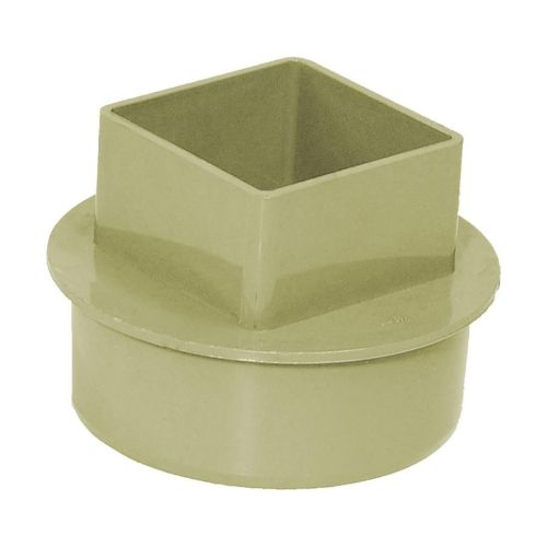 Olive Grey 110mm Solvent  to 65mm Square Rain/Soil Adaptor