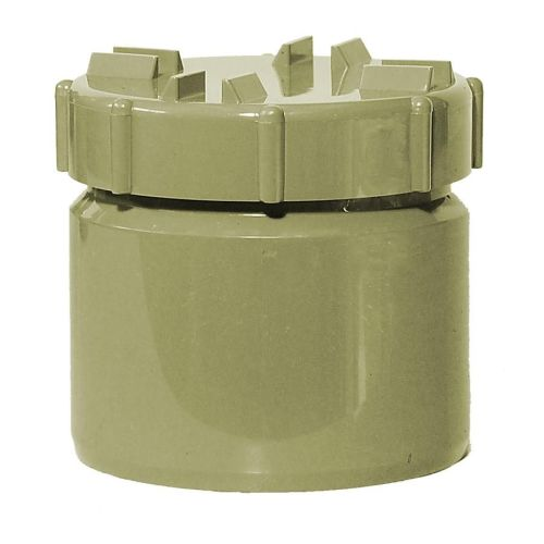 Olive Grey 110mm Solvent Access Plug with Screw Cap