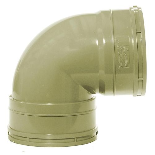 Olive Grey 110mm Solvent Double Socket Knuckle Bend