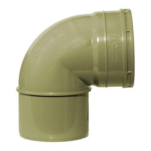 Olive Grey 110mm Solvent Single Socket Knuckle Bend