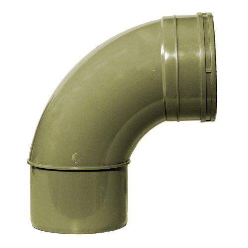 Olive Grey 110mm Solvent Single Socket Swept Bend