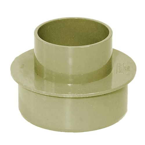 Olive Grey 110mm Solvent to 68mm Round Rain/Soil Adaptor