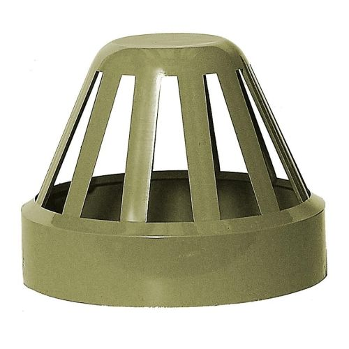 Olive Grey 110mm Solvent Vent Cowl
