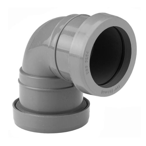 40mm Grey Push Fit Waste 90 Knuckle Bend