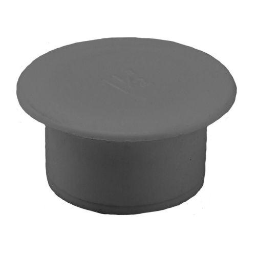 Grey 40mm Push Fit Waste Socket Plug
