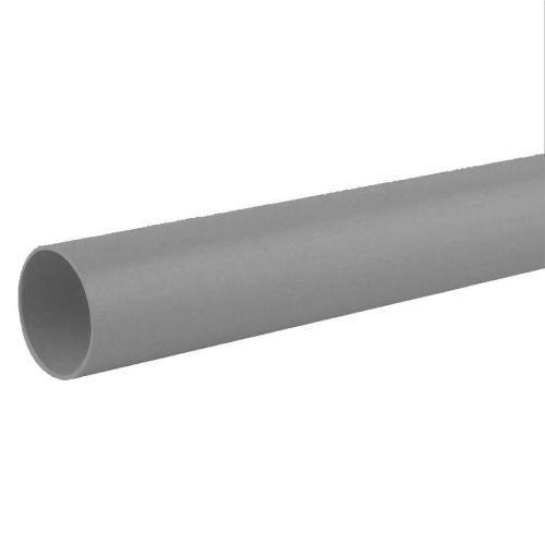 Grey 40mm Waste 3m Single Socket Pipe