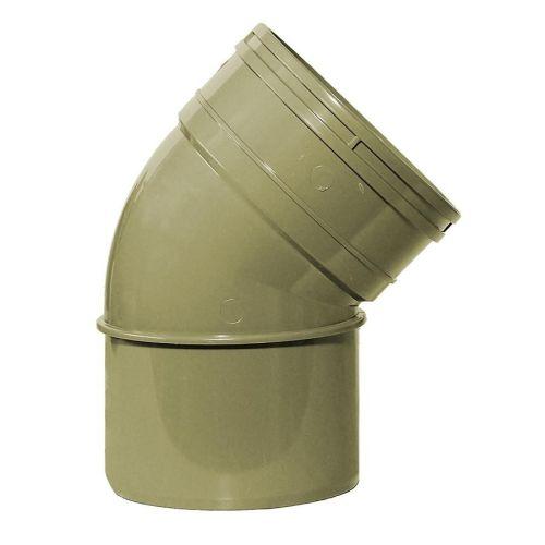 Black 50mm Solvent Spigot Waste Bend 45