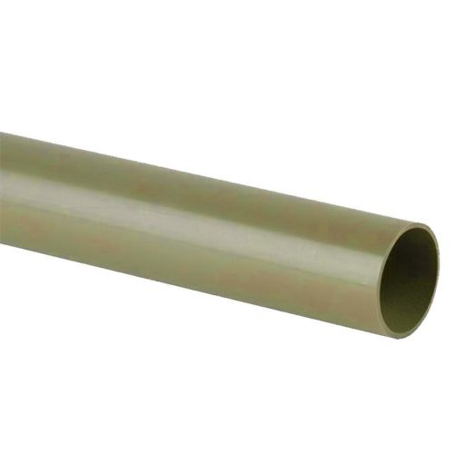 Grey 50mm Waste 3m Plain End Pipe