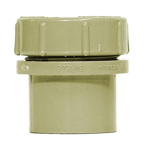 Grey 50mm Waste Access Plug with Screw Cap