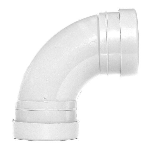 White 110mm Push Fit 92 Degree Double Socket Bend