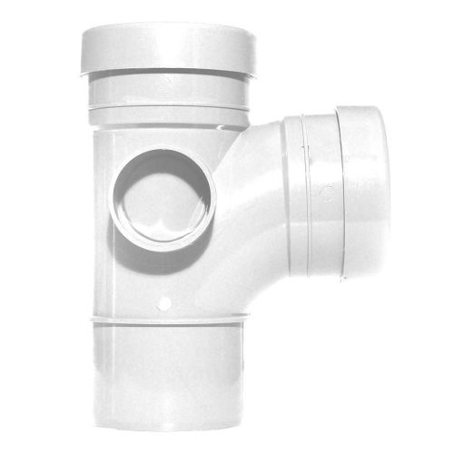 White 110mm Push Fit 92 Degree Spigot/Double Socket Branch