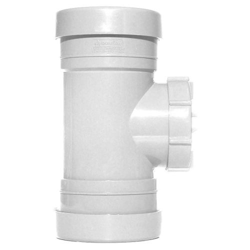 White 110mm Push Fit Access Pipe Coupling