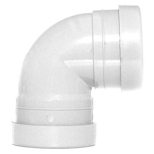 White 110mm Push Fit Knuckle Bend Double Socket