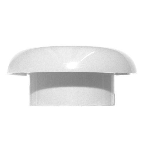 White 110mm Push Fit Mushroom Vent Cowl