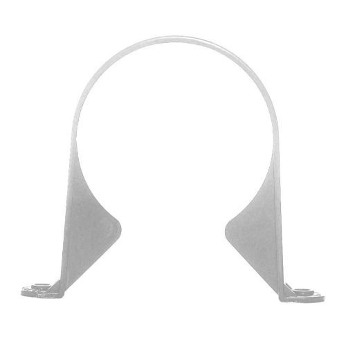 White 110mm Push Fit Pipe Support Bracket