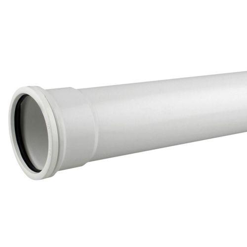 White 110mm Push Fit Single Socket 3m Pipe