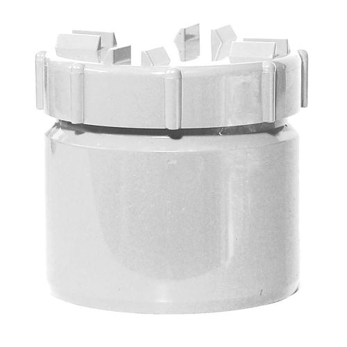 White 110mm Solvent Access Plug with Screw Cap
