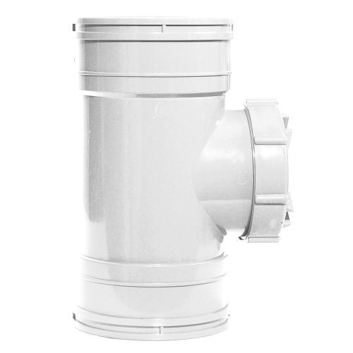 White 110mm Access Pipe Coupling