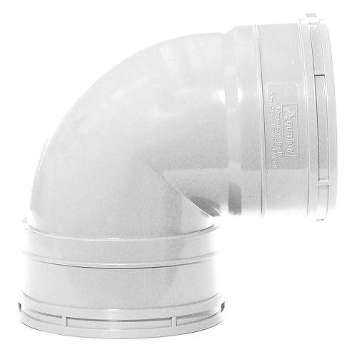 White 110mm Knuckle Bend Double Socket