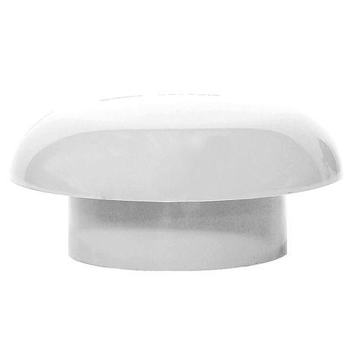 White 110mm Mushroom Vent Cowl