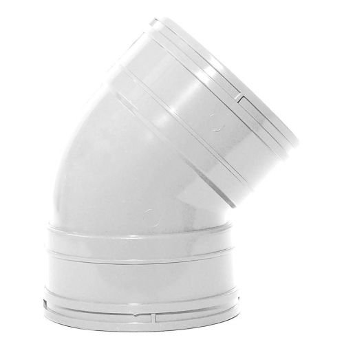 White 110mm Solvent 135 Double Socket Bend