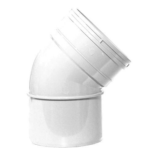 White 110mm Solvent 135 Single Socket Bend