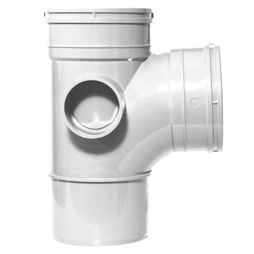 White 110mm Solvent 92.5 Branch Double Socket