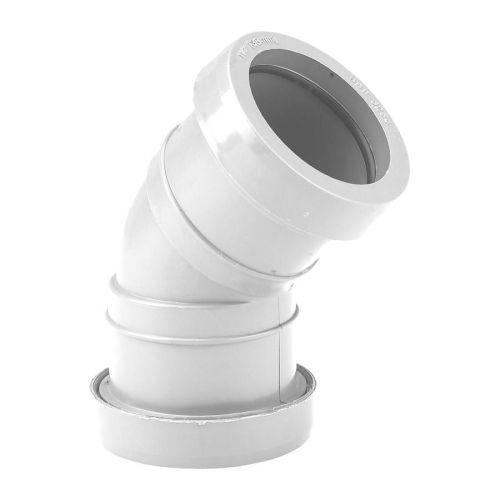 White 32mm Push Fit Waste 135 Bend