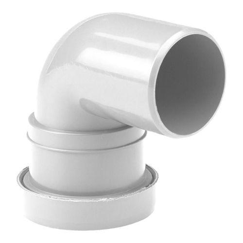 White 32mm Push Fit Waste 92 Spigot Bend