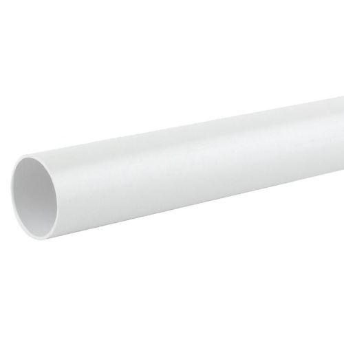 White 32mm Waste 3m Single Socket Pipe