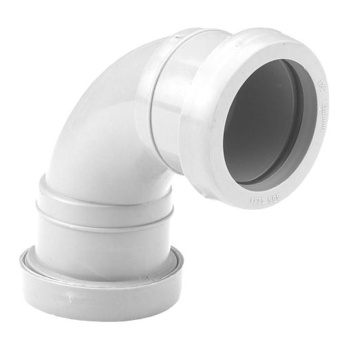 White 40mm Push Fit Waste 92 Bend