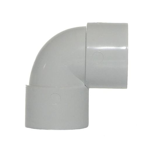 White 40mm Waste 90 Knuckle Bend