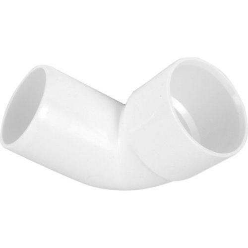 White 50mm Solvent Spigot Waste Bend 45
