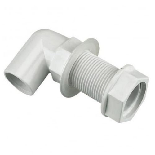 Aquaflow Bent Tank Connector 22mm White