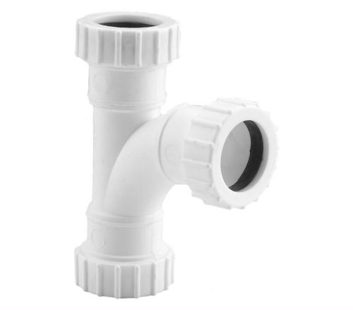 White 32mm Compression Waste Equal Branch
