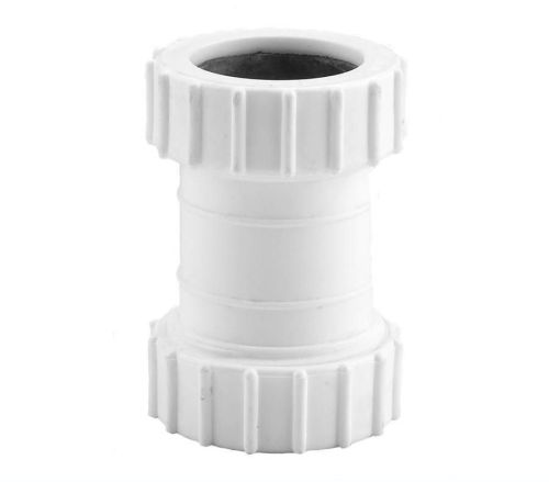 White 40mm Compression Waste Coupling
