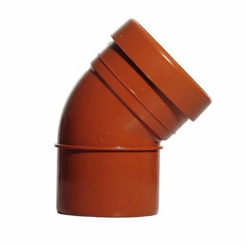 Underground 110mm Bend 45 Degree Single Socket / Spigot