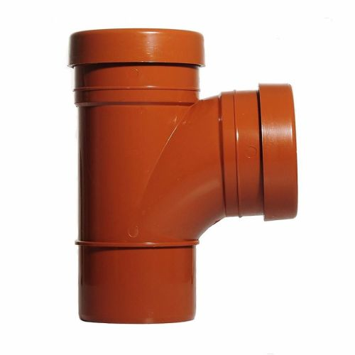 Underground 110mm Branch  92 Degree Double Socket / Spigot