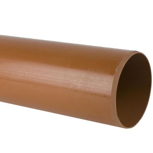 Underground 110mm Plain End Pipe x 3m