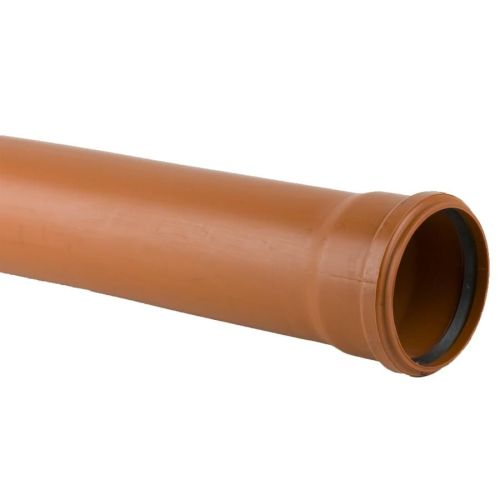 Underground 110mm Single Socket Pipe x 3m