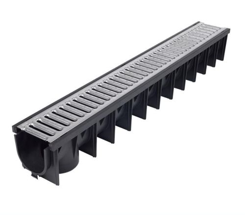Channel Drain Galvanised Grid 1m