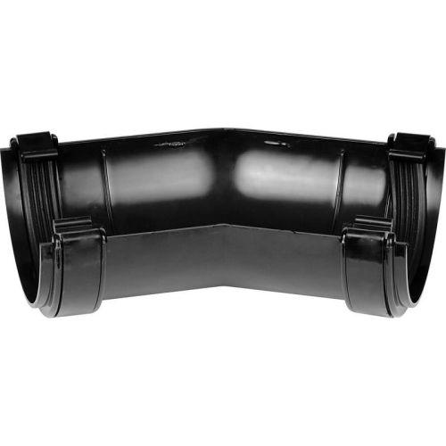Black Half Round 150 Gutter Angle