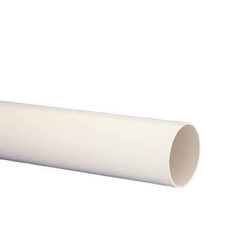 White Half Round 4m Down Pipe