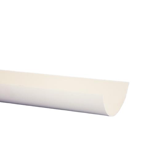 White Half Round 4m Gutter