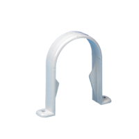 White Half Round Down Pipe Clip